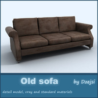 3d old sofa interior model
