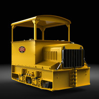 gas-mechanical contractor s locomotive 3d obj