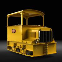 gas-mechanical contractor s locomotive 3d obj