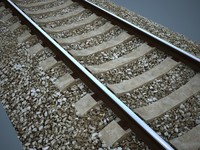railroad rail 3d model