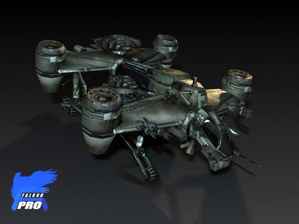 gyro assault transport 2020 3d model