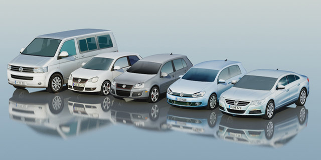 3d cars volkswagen golf model