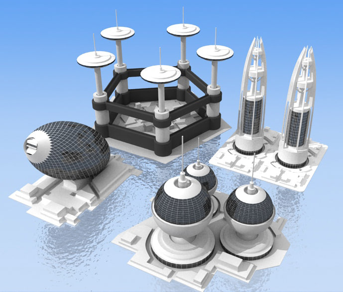 future buildings 3d model