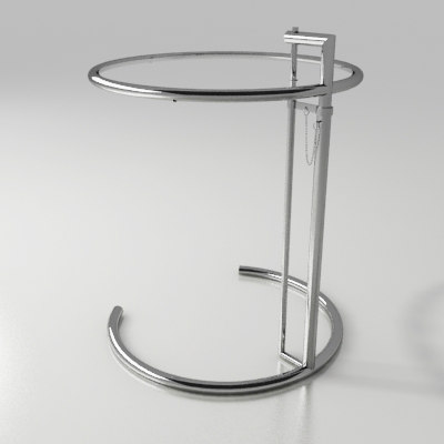 3d model of table eileen gray