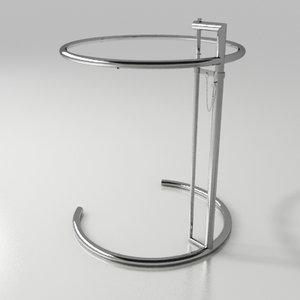3d model of table eileen gray