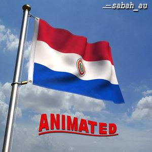 realistic paraguay flag 3d max