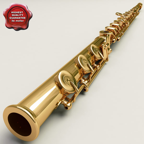 flute details modelled 3d max
