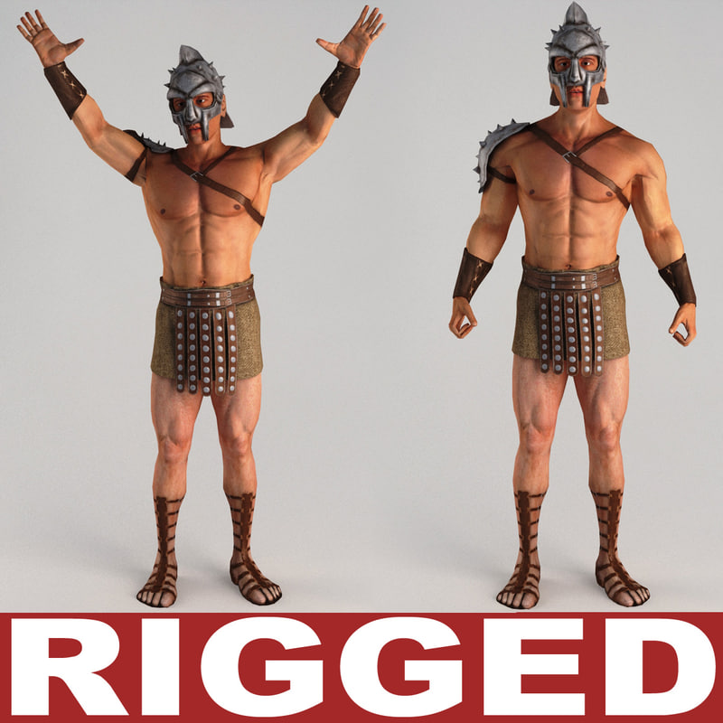 3d gladiator rigged