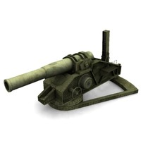 russian howitzer m1915 3d model