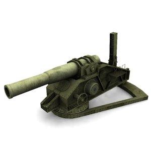 russian howitzer m1915 3d model
