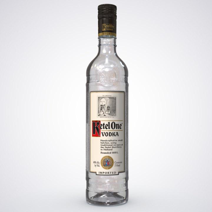 3dsmax ketel glass bottle