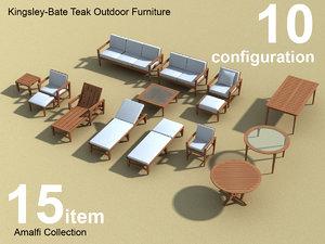 kingsley outdoor furniture amalfi 3d model