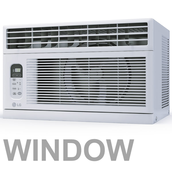 air conditioner window lwhd8008r 3d model