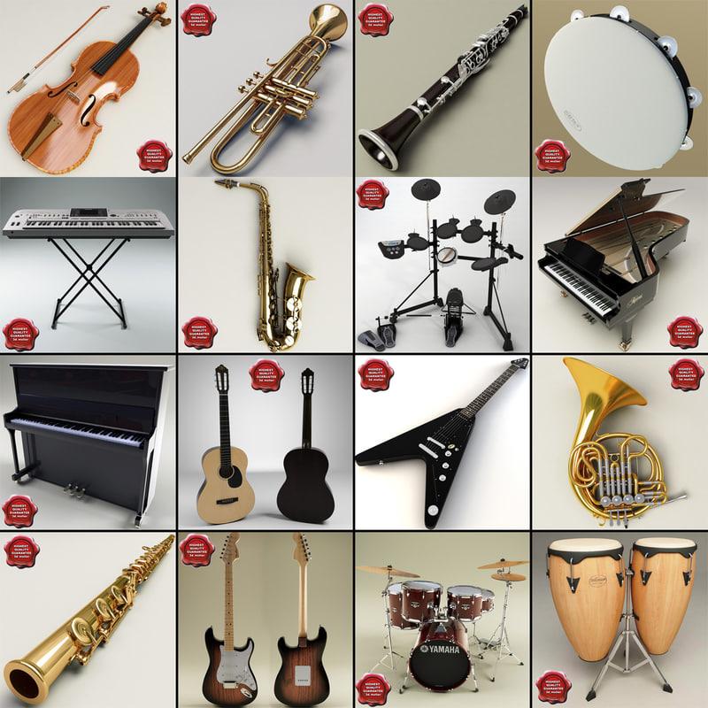 music instruments v7 3d model
