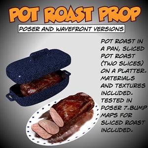 3d model pot roast poser prop