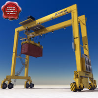 RTG Crane and Container