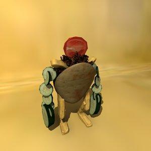 kebab character man 3d model