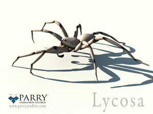 lycosa spider 3d ma