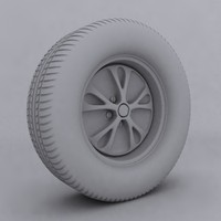 3D car wheel with rim