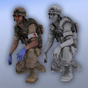 marine medic - 3d max