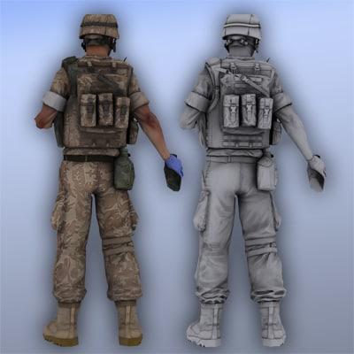 marine medic 3d max