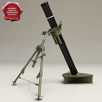mortar 120mm 3d model