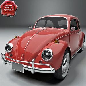 volkswagen beetle 1300 1963 3d model