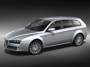 alfa romeo 159 sportwagon 3d model
