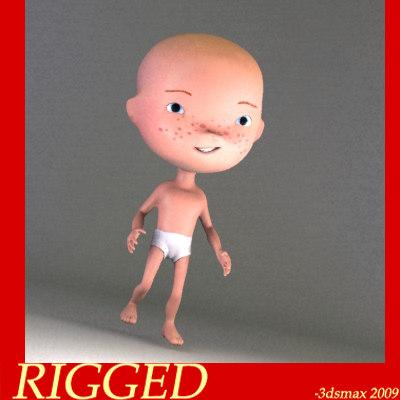 human kid child 3d model