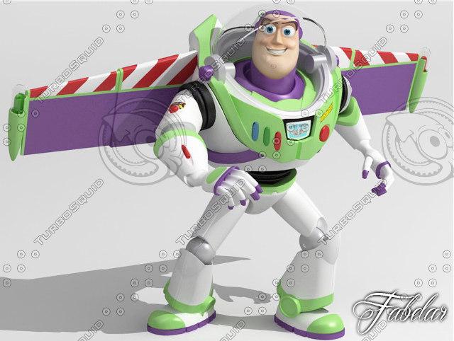 buzz lightyear toy 3d model