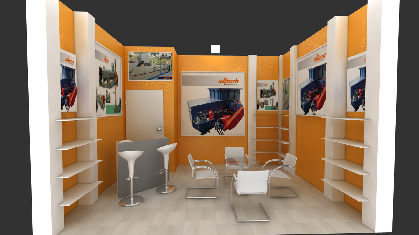 stand exhibition adm 3d model