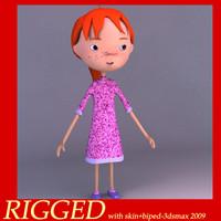 girl cute 3d model