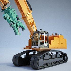 excavator - construction 3d model