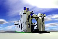 c4d lego white castle