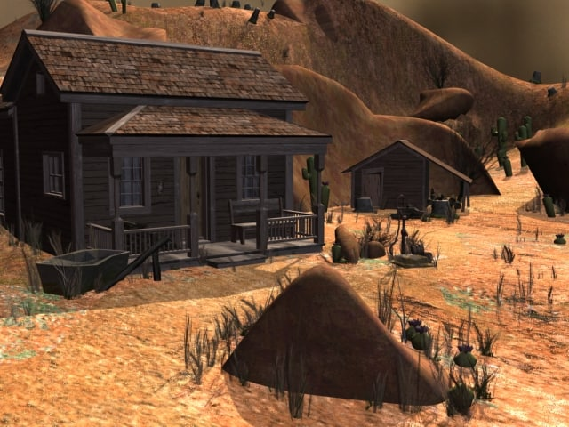 3ds max old west homestead house