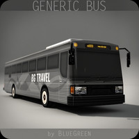 3d model realtime generic bus