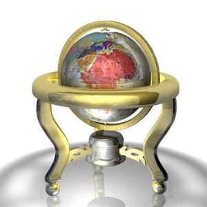 globe stand 3d model