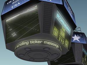 3ds max jumbotron score displays