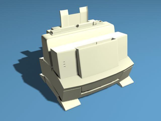 hp laserjet 6l printer 3d model