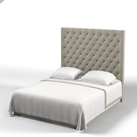 Meridiani thurman modern tufted bed high back tuft contemporary