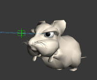 3d fun character mouse model