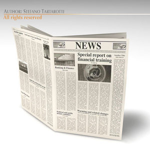 newspaper news new 3d model
