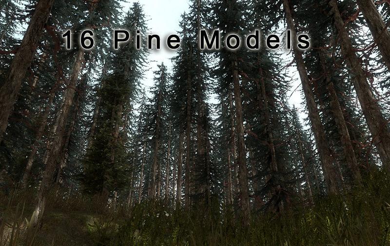 3ds max 15 pine tree