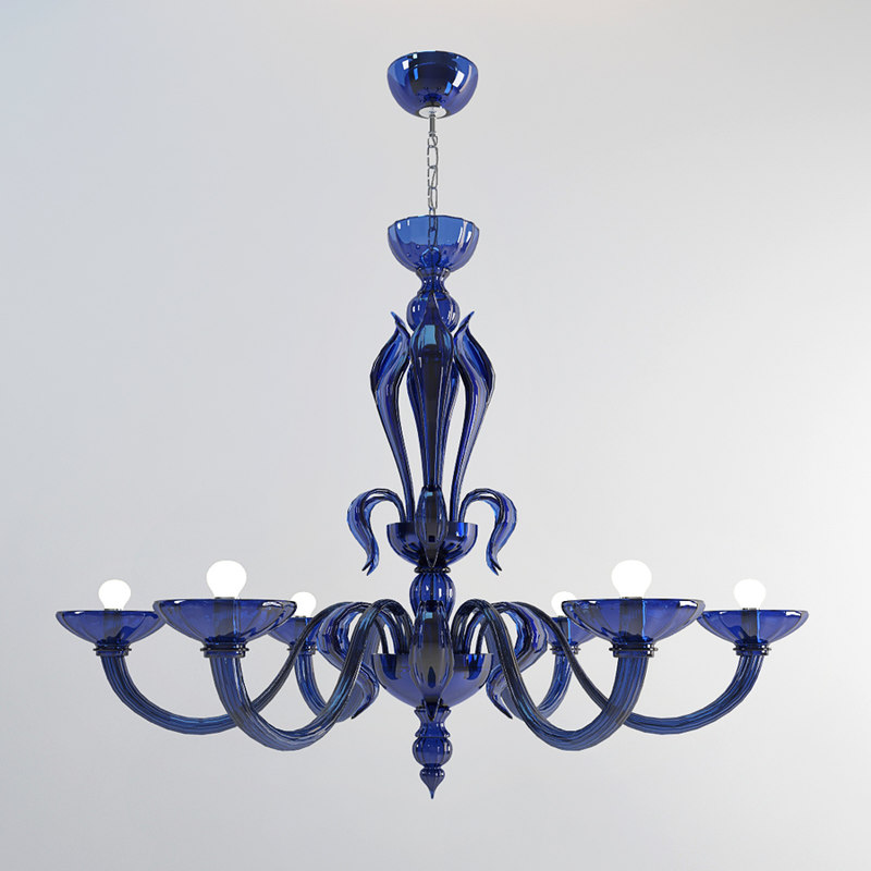 3d model zonca chandelier lamps