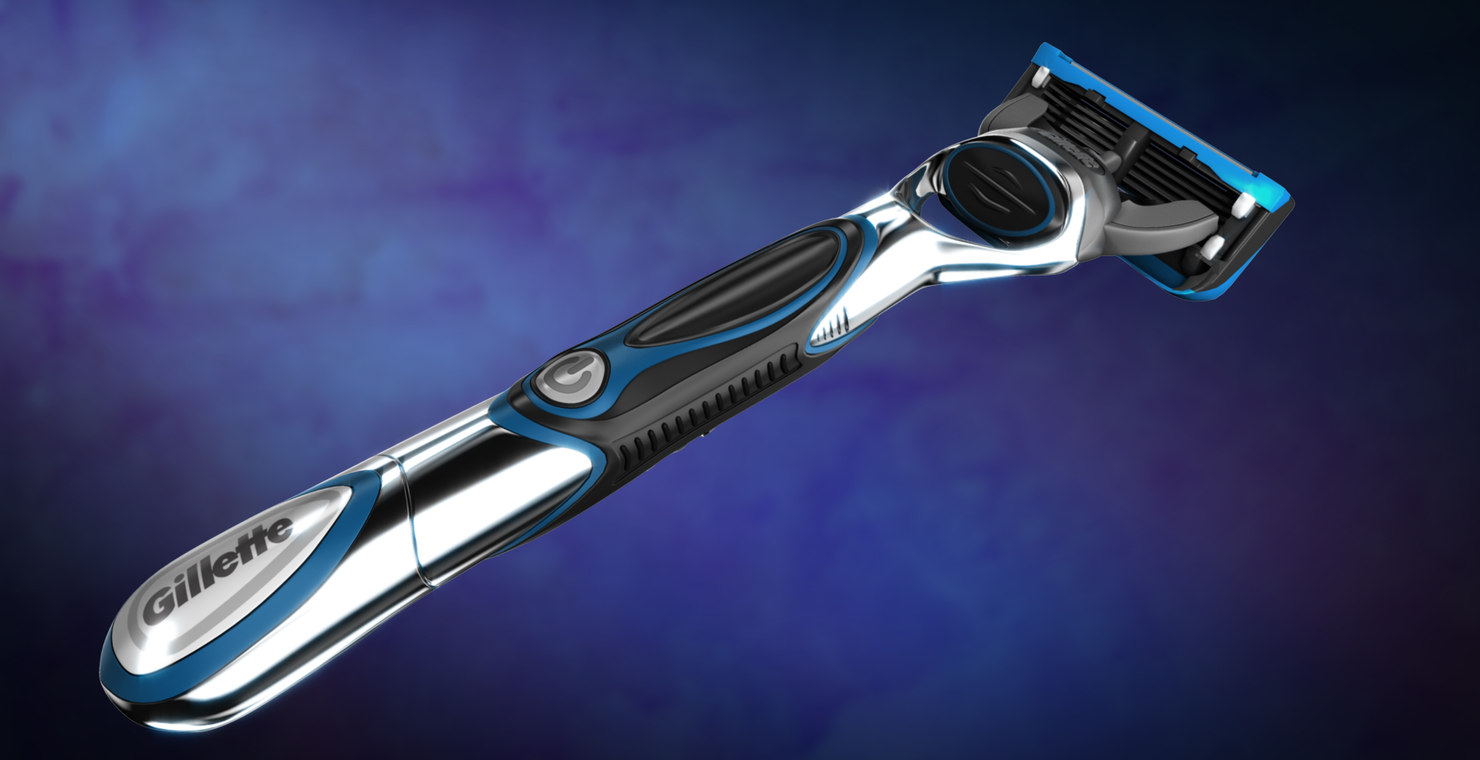 gillette proglide power razor 3d model