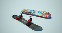 snowboard burton 3d model