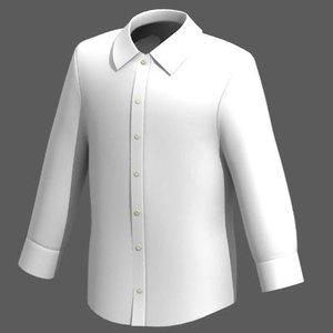 mens shirt 3d model