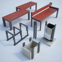 set street furnitures 3d max