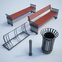 Street furniture set03