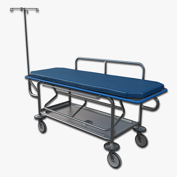 3d model stretcher hospital